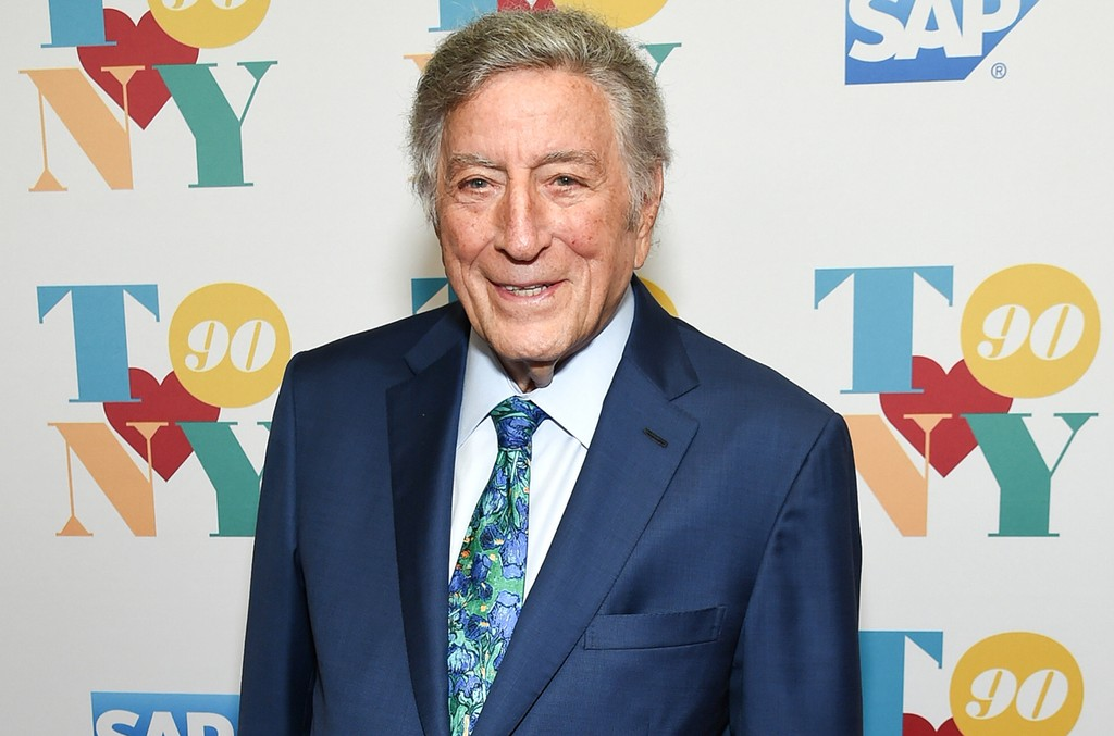 Tony Bennett arrives for his 90th birthday celebration at the Rainbow Room at Rockefeller Plaza on Aug. 3, 2016 in New York City.