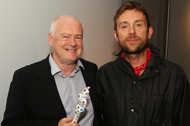 Tony Wadsworth with Damon Albarn at BPI's annual general meeting