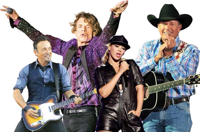 Top 6 Tours of 2014 So Far featuring Bruce Springsteen, Mick Jagger, Beyonce & George Straight