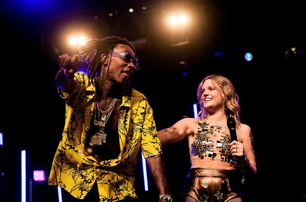 Wiz Khalifa and Tove Lo perform on the Mojave stage during day 3 of the Coachella Valley Music And Arts Festival (Weekend 1) at the Empire Polo Club on April 16, 2017 in Indio, Calif.