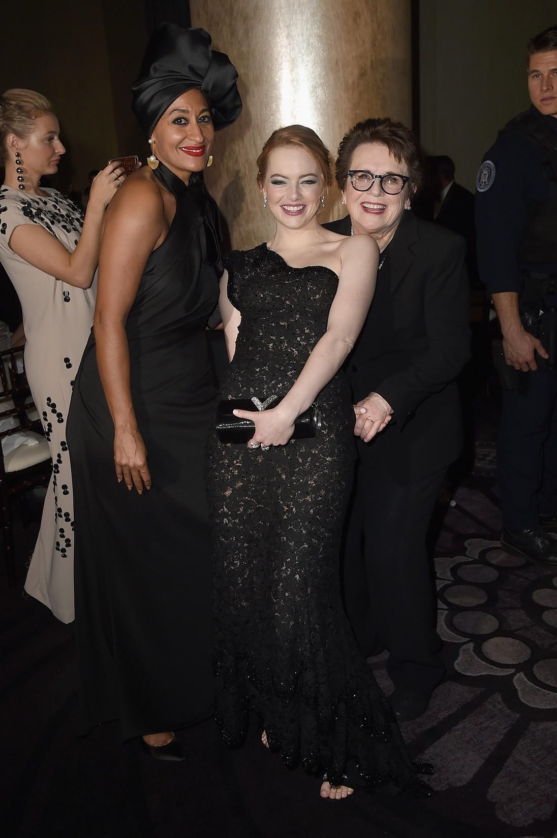 Tracee Ellis Ross, Emma Stone & Billie Jean King, 2018