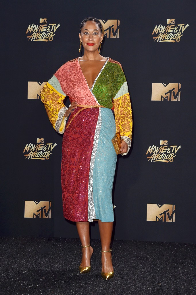 Tracee Ellis Ross attends the 2017 MTV Movie and TV Awards at The Shrine Auditorium on May 7, 2017 in Los Angeles.