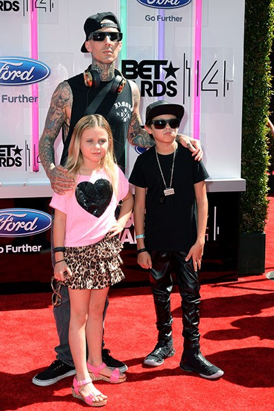 Travis Barker at the BET Awards 2014