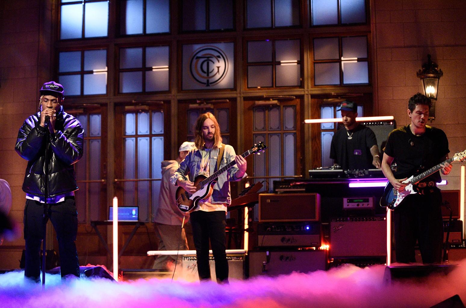 Travis Scott, Kevin Parker and John Mayer