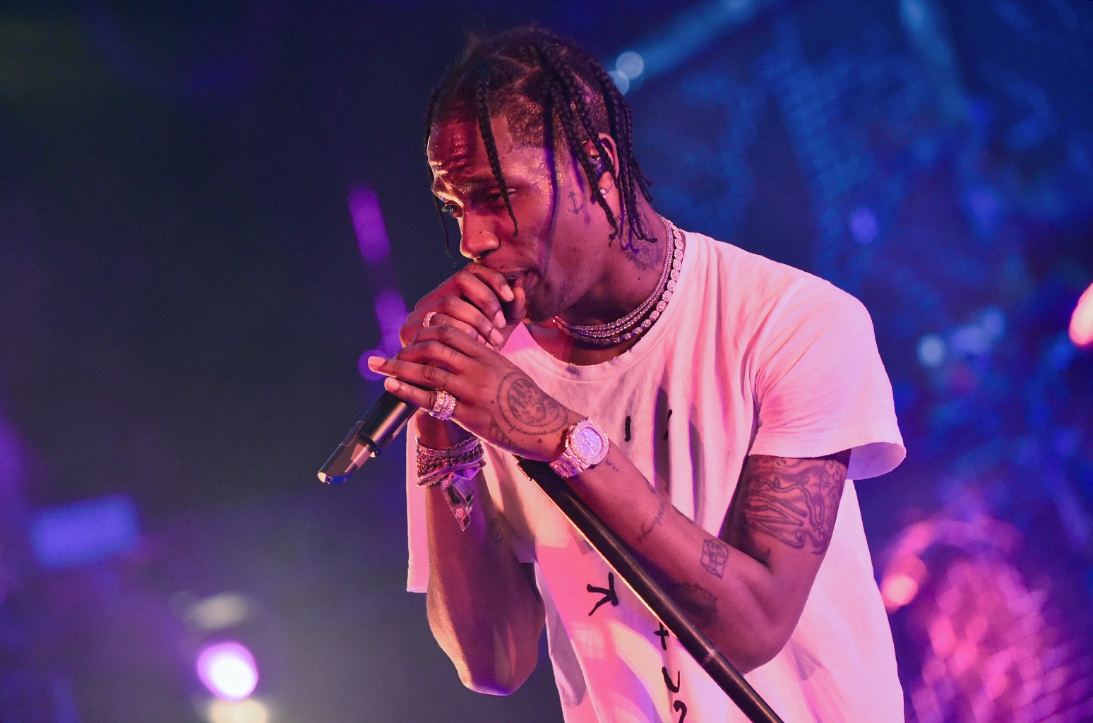 Travis Scott performs during the 2017 Coachella Valley Music & Arts Festival at the Empire Polo Club on April 21, 2017 in Indio, Calif.