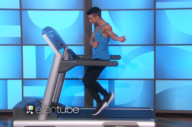 treadmill guy ellen show