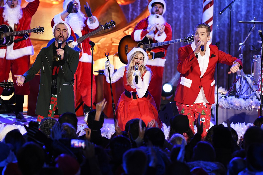 Band Of Merrymakers at the Rockefeller Center Tree Lighting in New York City on Dec. 2, 2015.