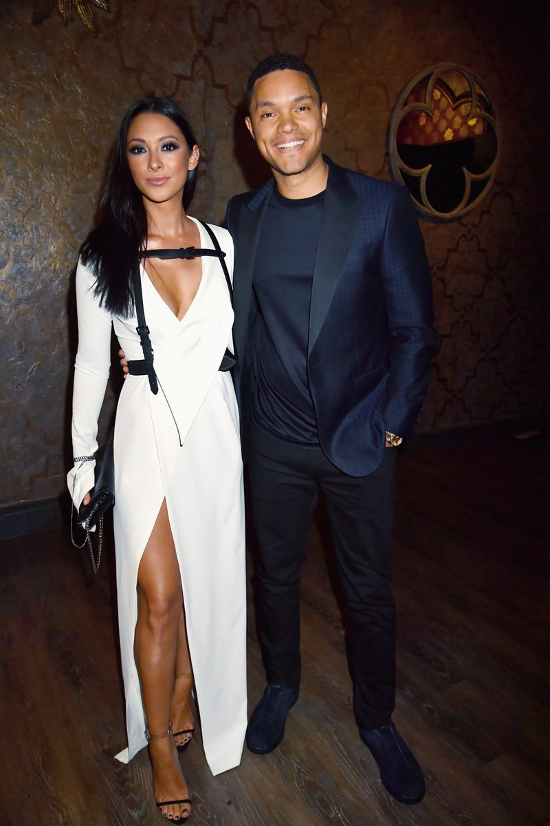 Trevor Noah and Jordyn Taylor attend the 2017 MTV Movie and TV Awards at The Shrine Auditorium on May 7, 2017 in Los Angeles.