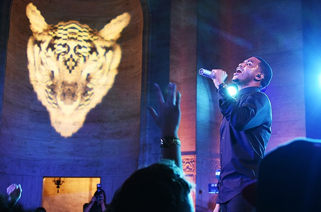 Trey Songz performs on stage during the Moet Nectar Imperial Rose x Marcelo Burlon Launch Event