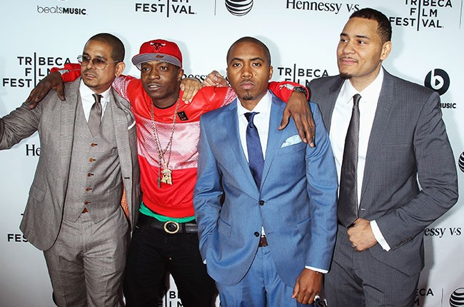 "One 9, Jungle, Nas and Erik Parker at Premiere of ""Time Is Illmatic"""