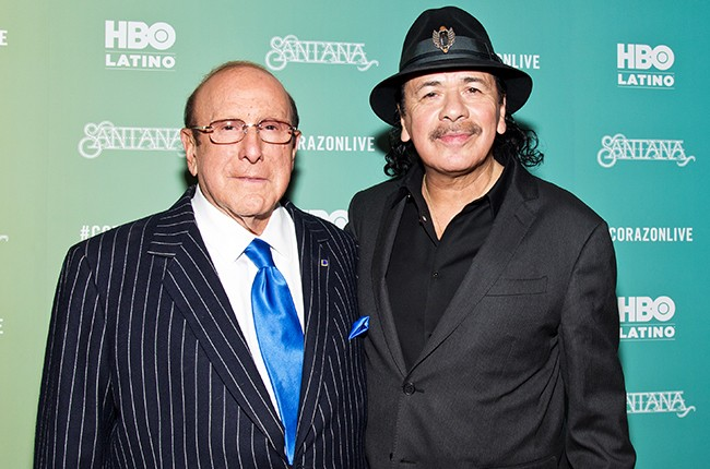 "Clive Davis and Carlos Santana attend the ""Santana De Corazon"" screening"