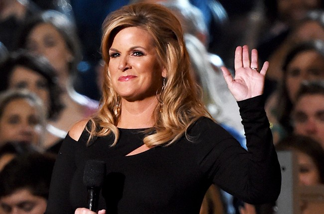 Trisha Yearwood speaks onstage during the 50th Academy Of Country Music Awards
