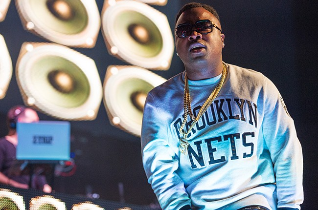 Troy Ave performs at Christmas in Brooklyn at the Barclays Center 2014