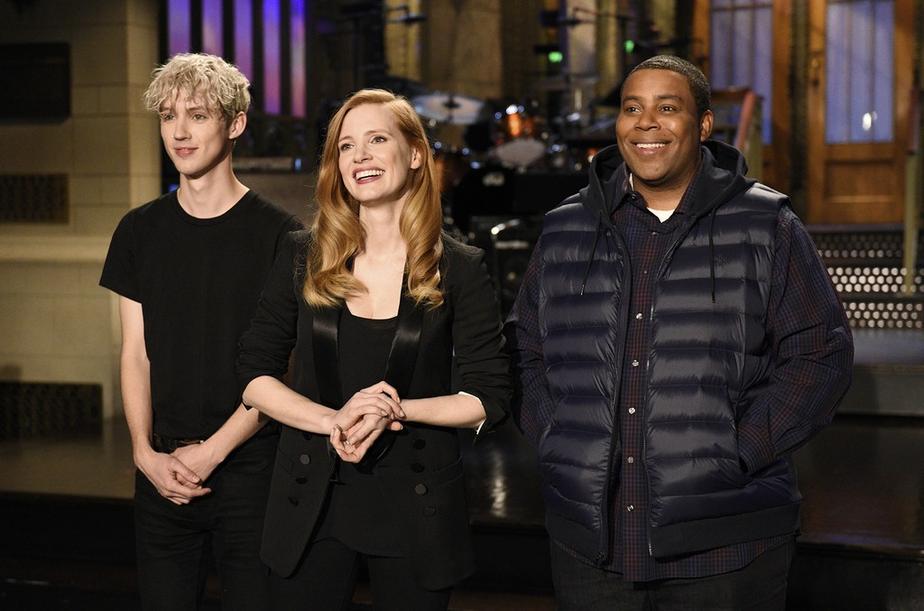 Troye Sivan, Jessica Chastain and Kenan Thompson