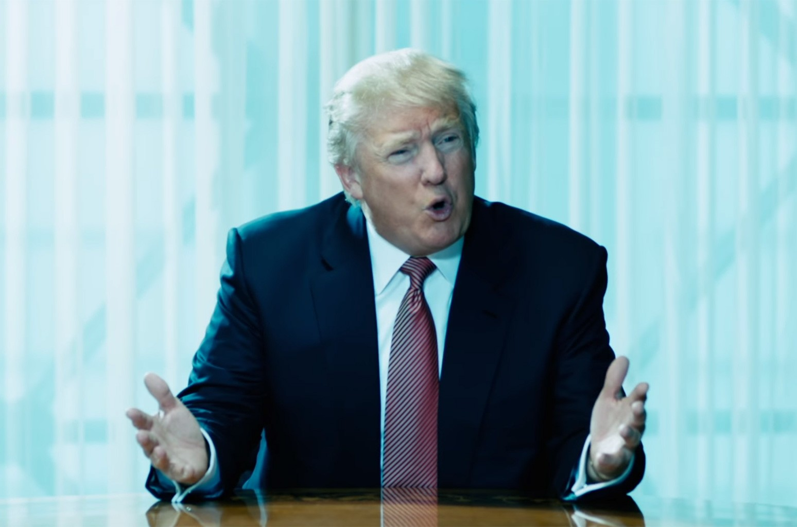 """Trump in the official music video for """"In Another Life"""" by EMIN."""