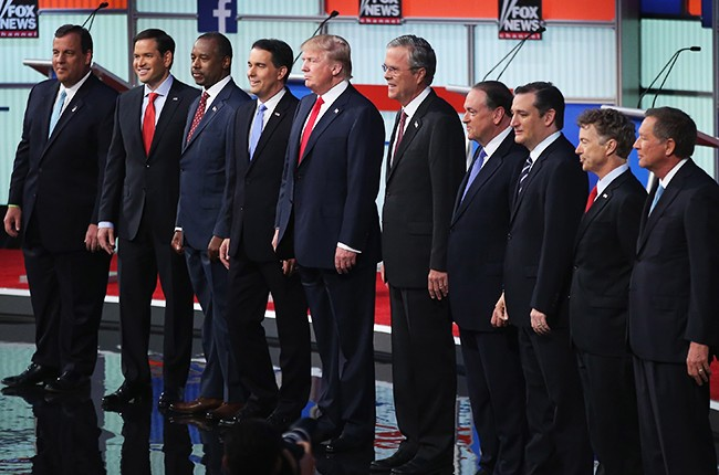 trump christie bush huckabee Republican presidential debate 2015