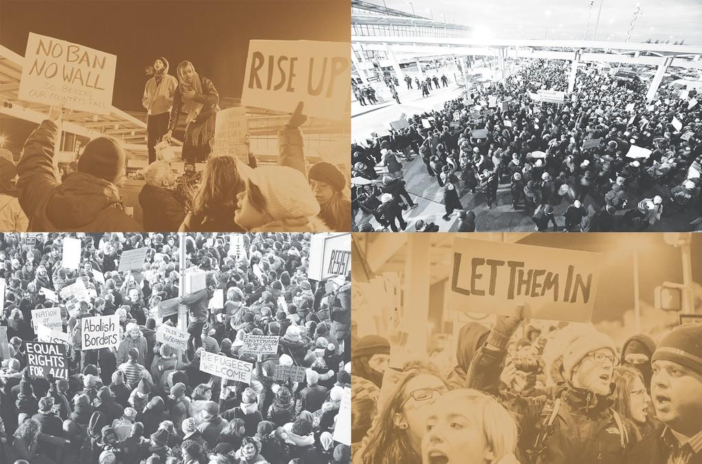 Protests at JFK Airport