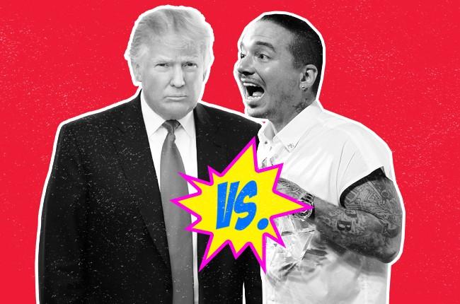 Donald J. Trump and J. Balvin