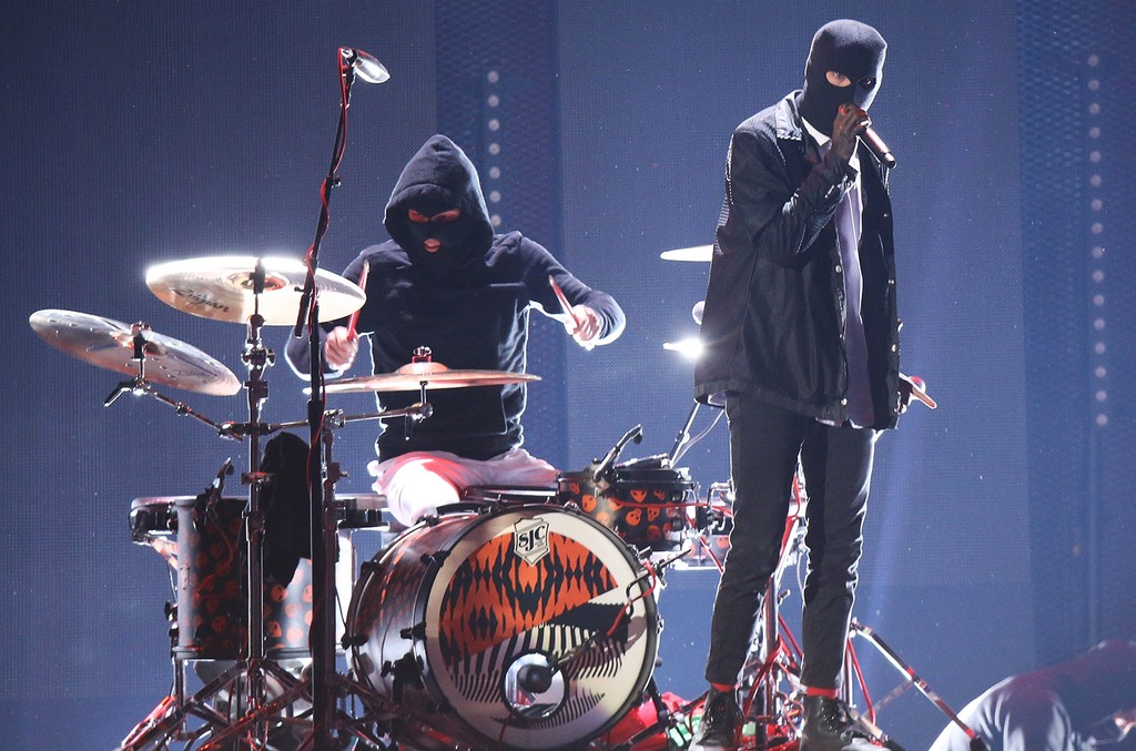 Twenty One Pilots perform during the 2016 iHeartRadio Music Festival