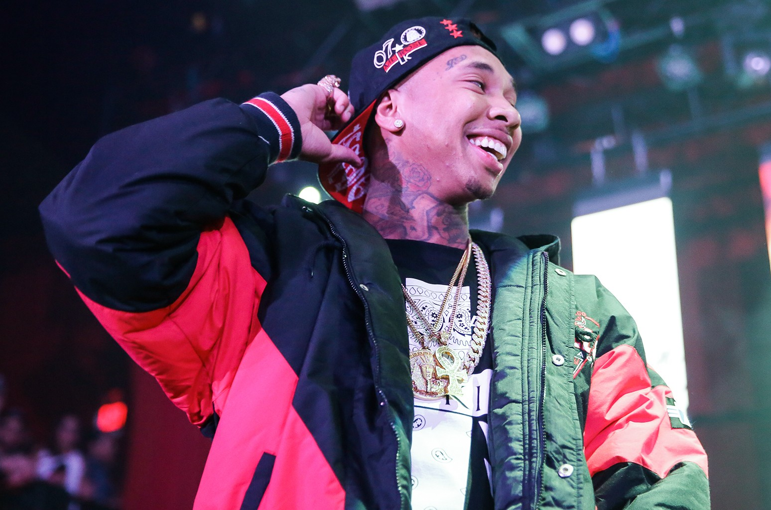 Tyga performs on Jan. 18, 2015 in Los Angeles.