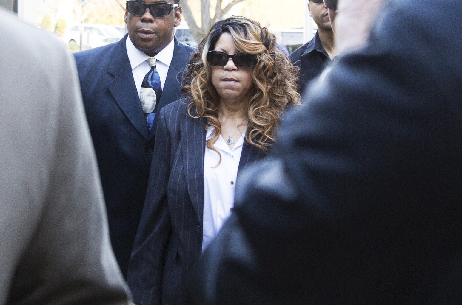 Tyka Nelson arrives at the Carver County Justice Center