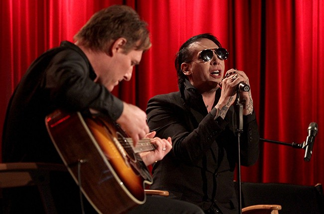 Tyler Bates and Marilyn Manson perform at The GRAMMY Museum