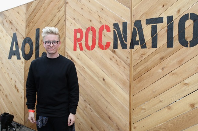 Tyler Oakley attends the Roc Nation and Live Nation Raptor House at 2015 sxsw
