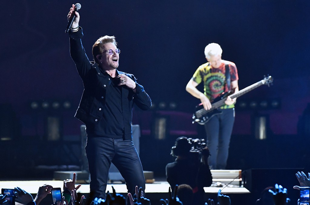 U2 perform during the 2017 Bonnaroo Arts And Music Festival on June 9, 2017 in Manchester, Tenn.