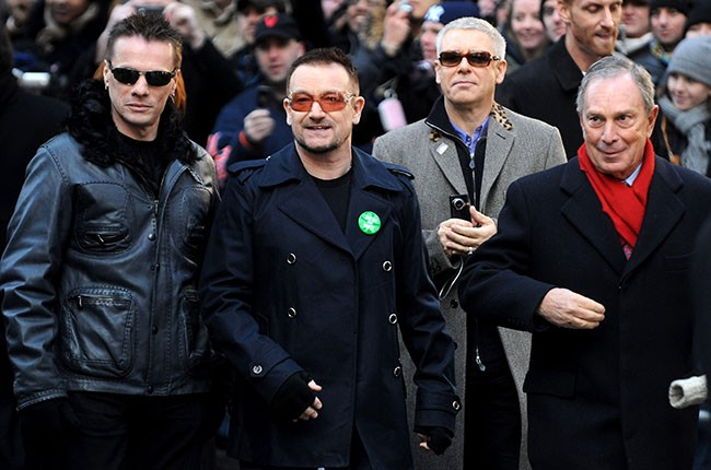 U2 and Michael Bloomberg