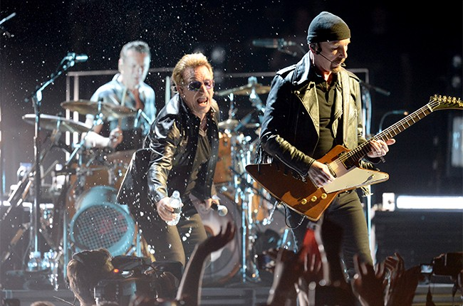 The Edge, Larry Mullen Jr and Bono