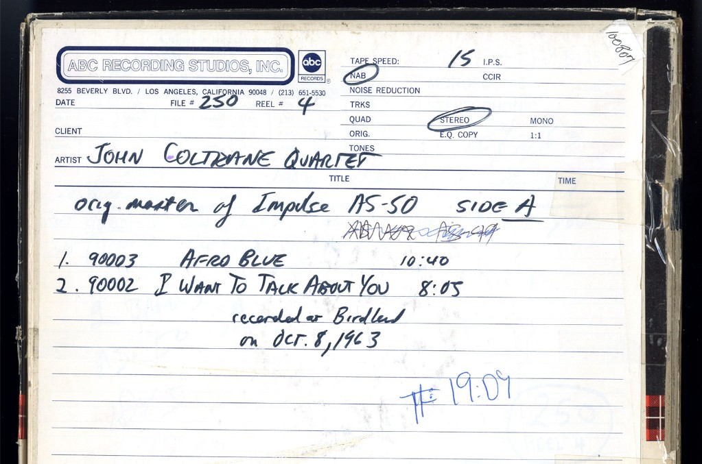 Master tapes from the Universal Music archives