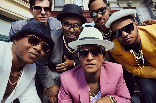 "Mark Ronson's ""Uptown Funk"" featuring Bruno Mars."