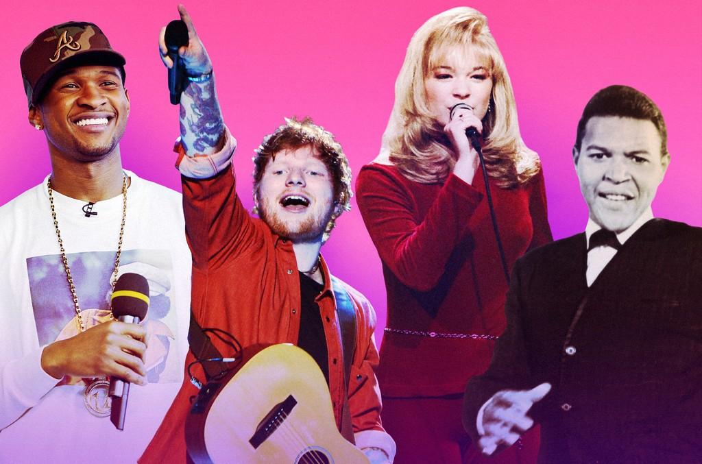 Usher, Ed Sheeran, LeAnn Rimes & Chubby Checker