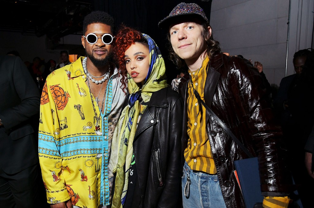 Usher, FKA twigs and Matt Shultz of Cage The Elephant