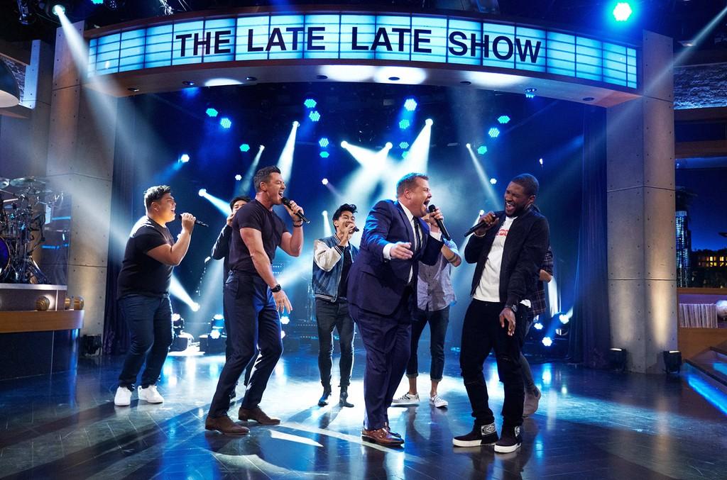Usher, Luke Evans & James Corden, 2017
