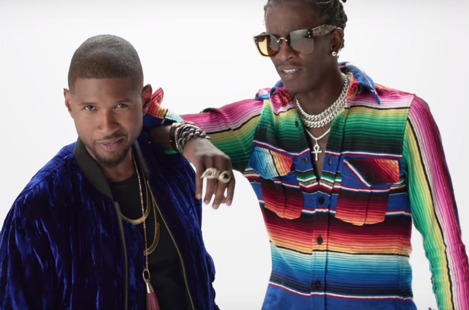 """Usher and Young Thug in the video for """"No Limit."""""""