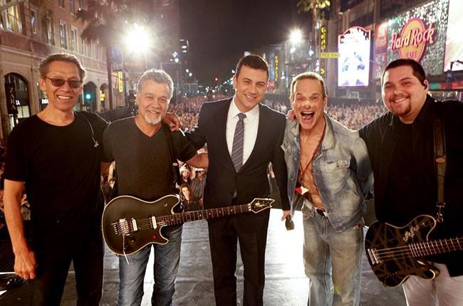 Jimmy Kimmel with Van Halen