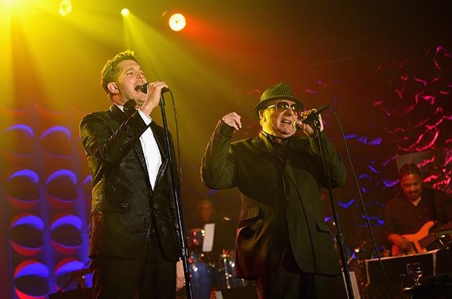 Van Morrison and Michael Buble
