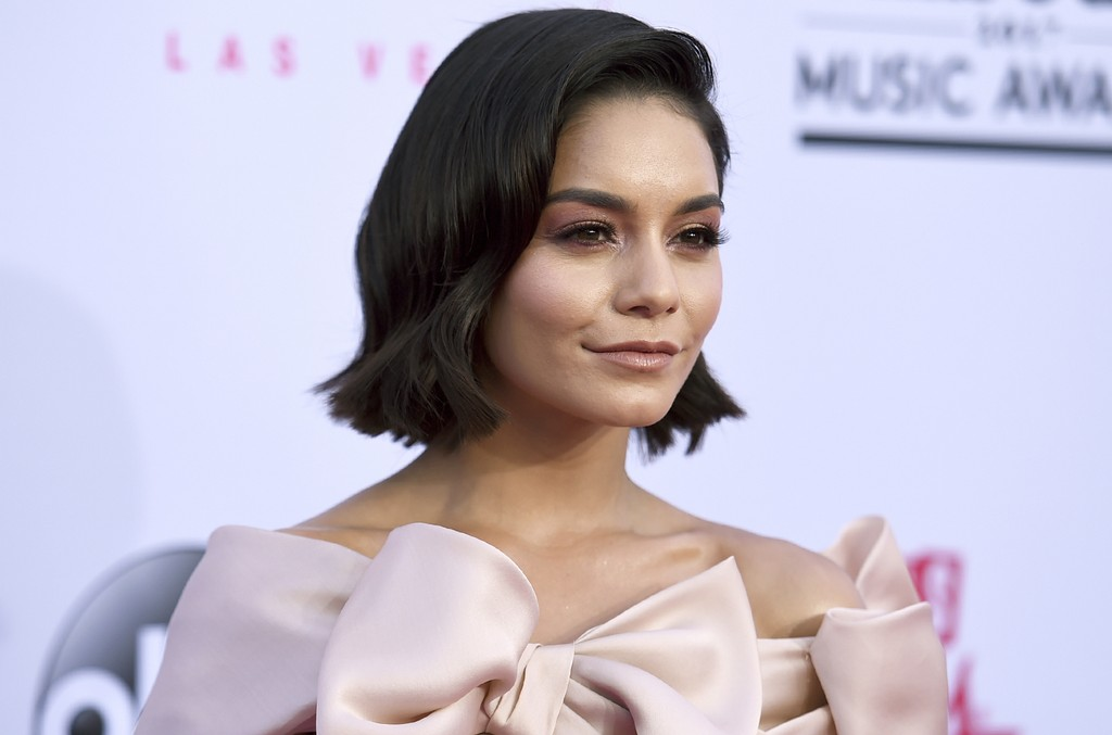 Vanessa Hudgens arrives at the Billboard Music Awards at the T-Mobile Arena on May 21, 2017 in Las Vegas.