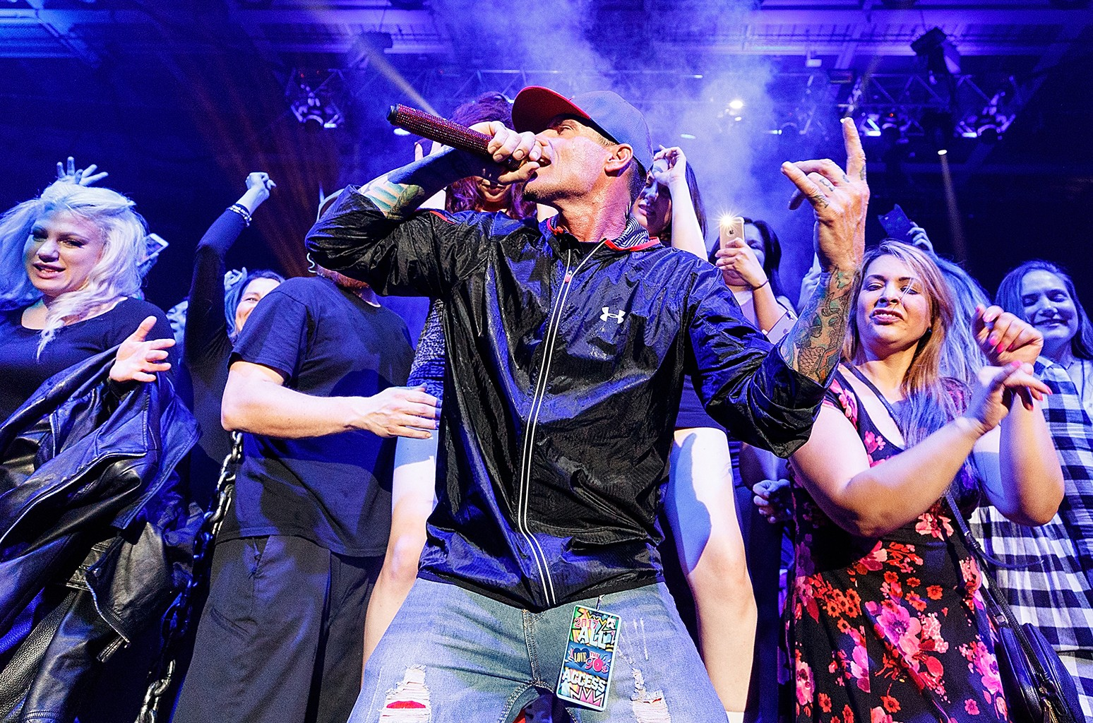 Vanilla Ice performs on stage during the 'I Love The 90's Tour' at Abbotsford Centre on April 22, 2017 in Abbotsford, Canada.  (Photo by Andrew Chin/Getty Images)
