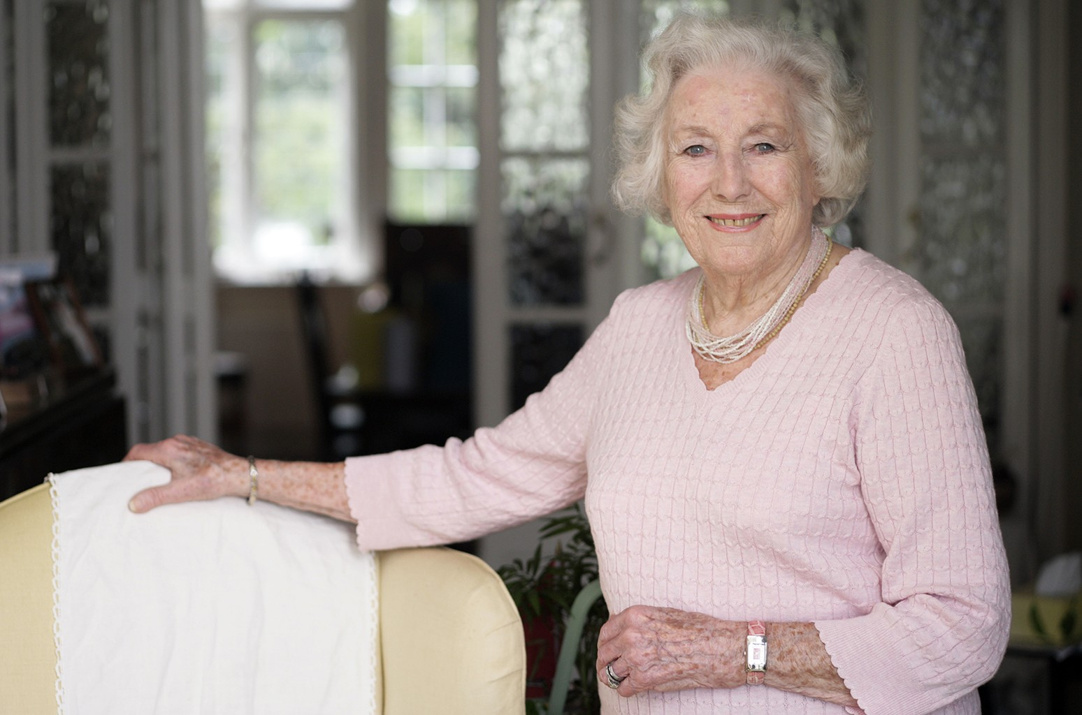 Dame Vera Lynn photographed in her home in Sussex on April 27, 2010.
