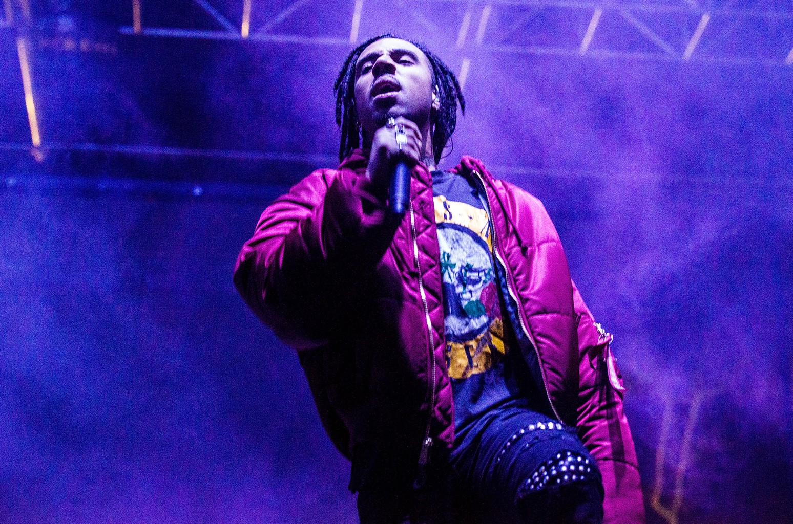 Vic Mensa performs during Air + Style Los Angeles 2017 at Exposition Park on Feb. 18, 2017 in Los Angeles.