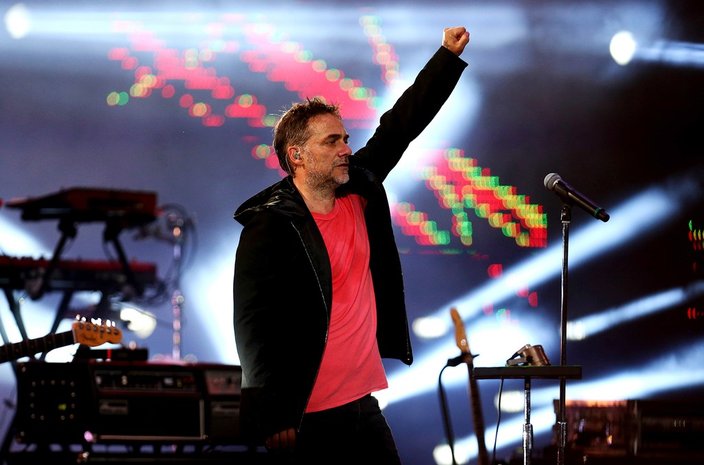 Vicentico of Los Fabulosos Cadillacs performs on the opening night of the Viña del Mar International Song Festival at the Quinta Vergara in Viña del Mar, Chile on Feb. 20, 2017.