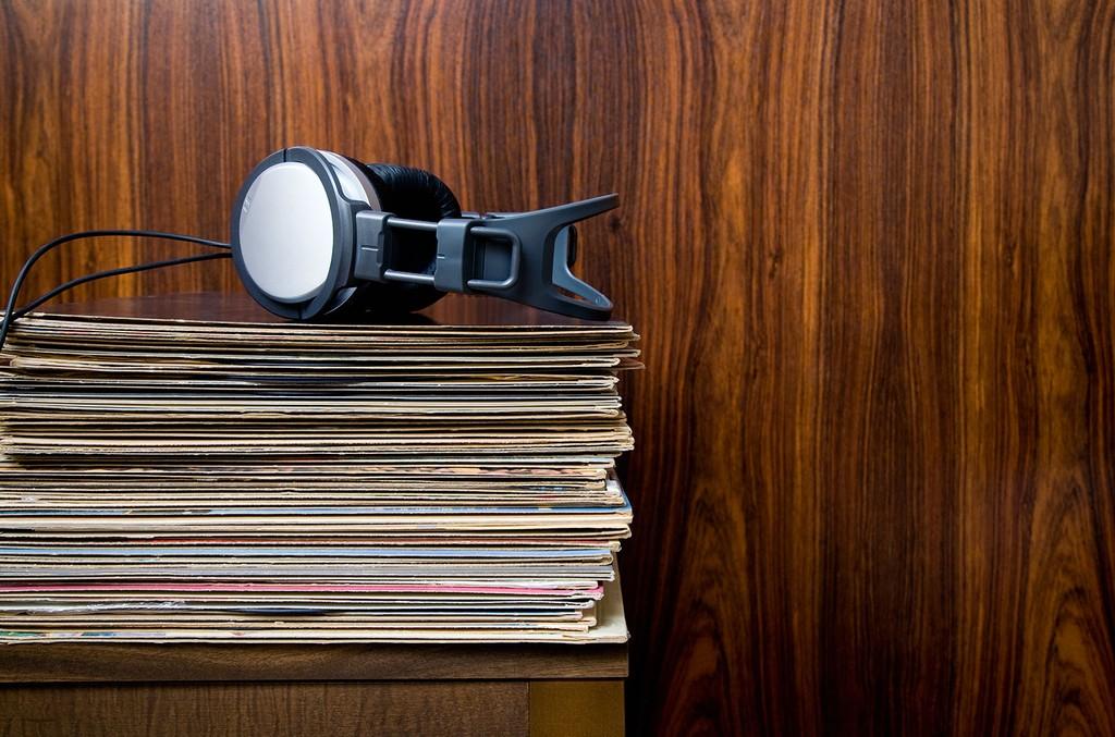 Vinyl Record Stack