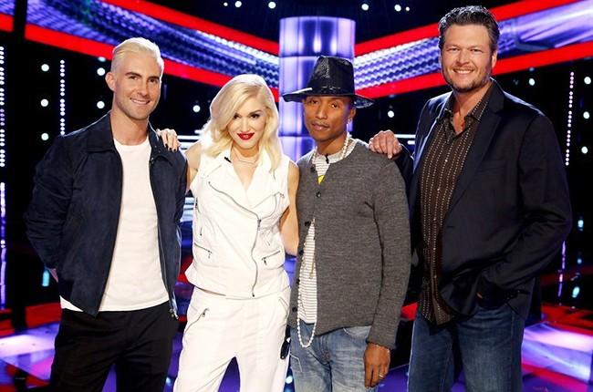 The Voice Judges: Adam Levine, Gwen Stefani, Pharrell Williams, Blake Shelton