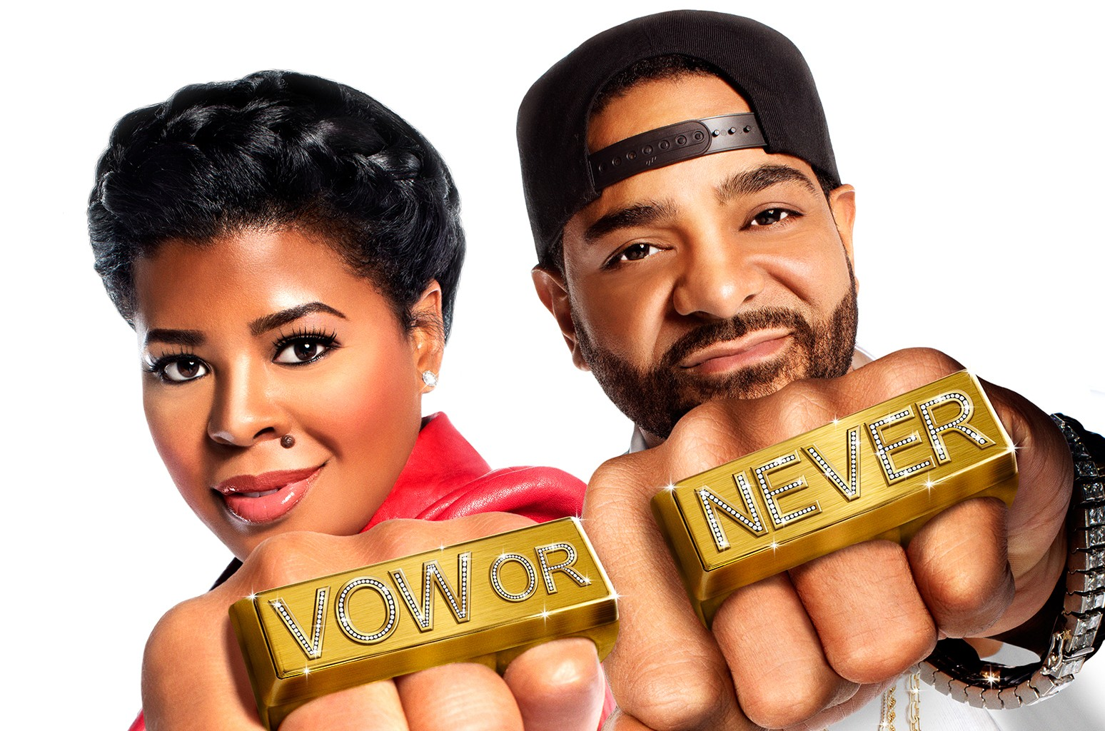 Chrissy Lampkin and Jim Jones in Vow or Never.