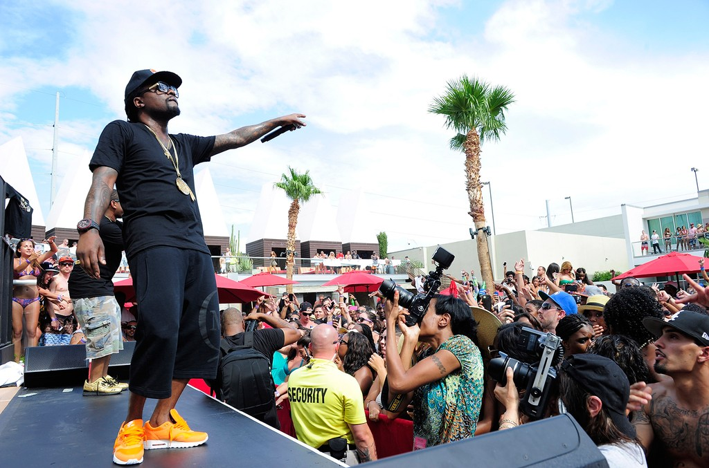 Wale performs during Ditch Fridays at the Palms Casino Resort on July 12, 2013 in Las Vegas.