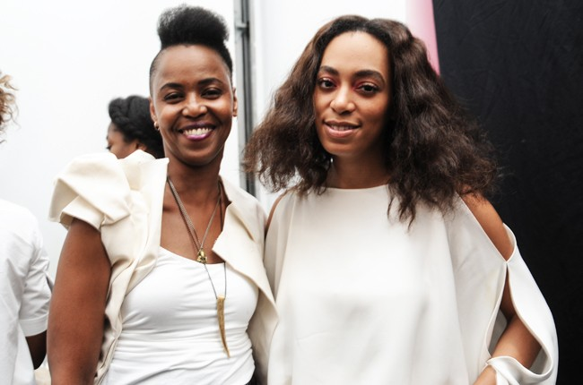 Solange Knowles and host Wangechi Mutu at the 1st annual Africa's Out! art benefit