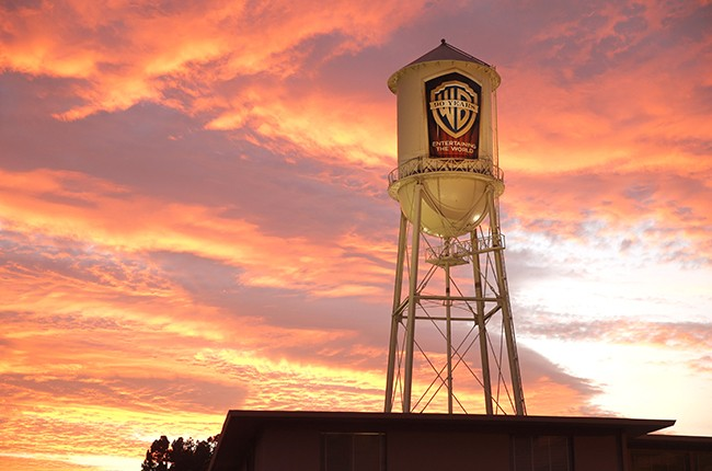 The Warner Brothers water tower