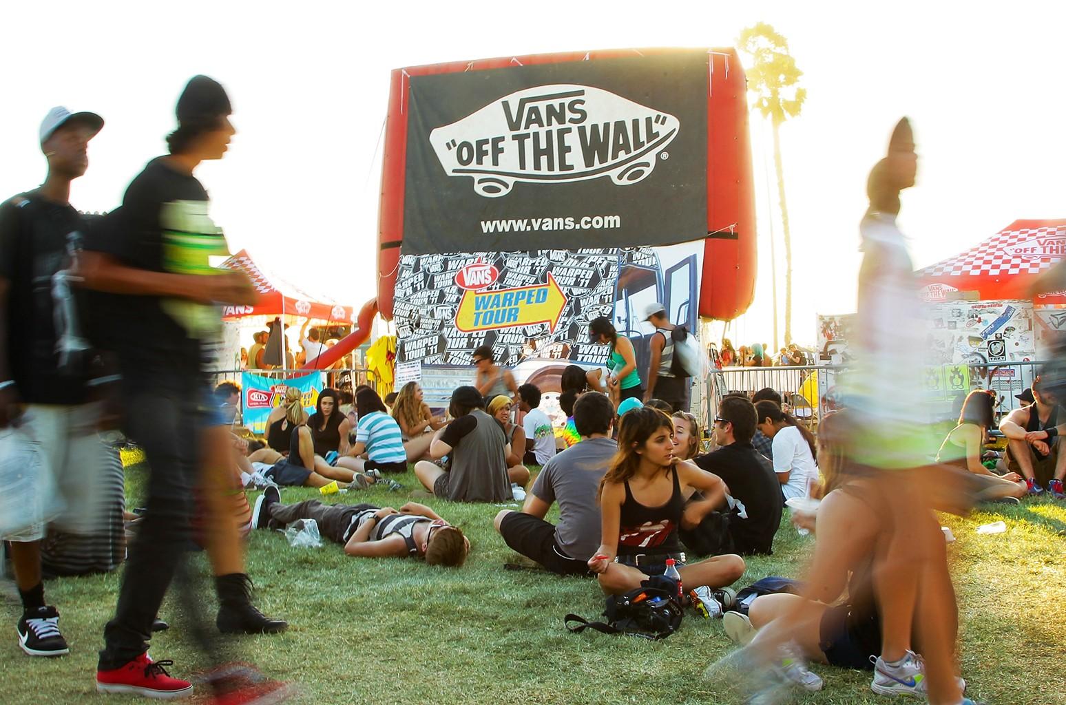General atmosphere at the Vans Warped Tour in Pomona, Calif.